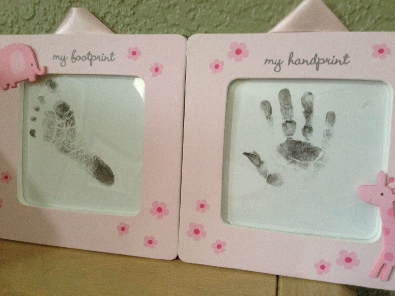 Handprints and footprints