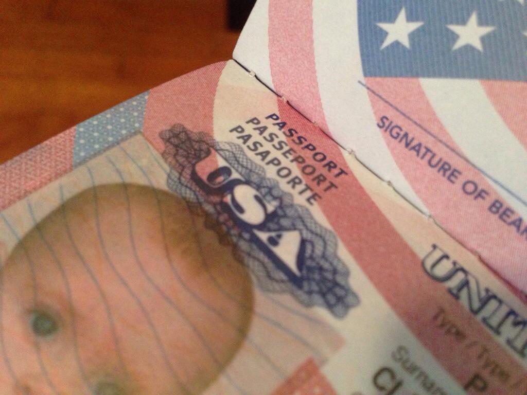Ellie's first passport
