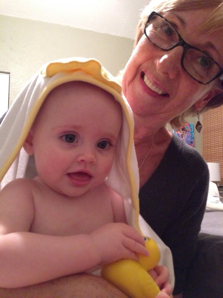 A bath with Oma