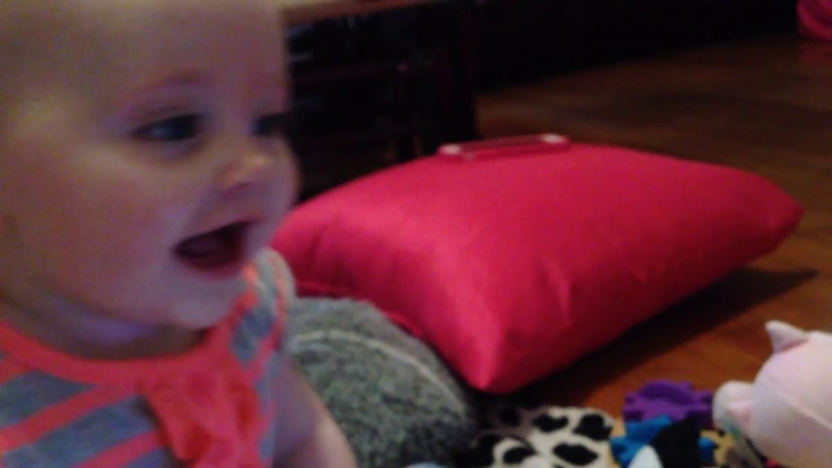 Ellie laughing at Grandad on FaceTime [VIDEO]