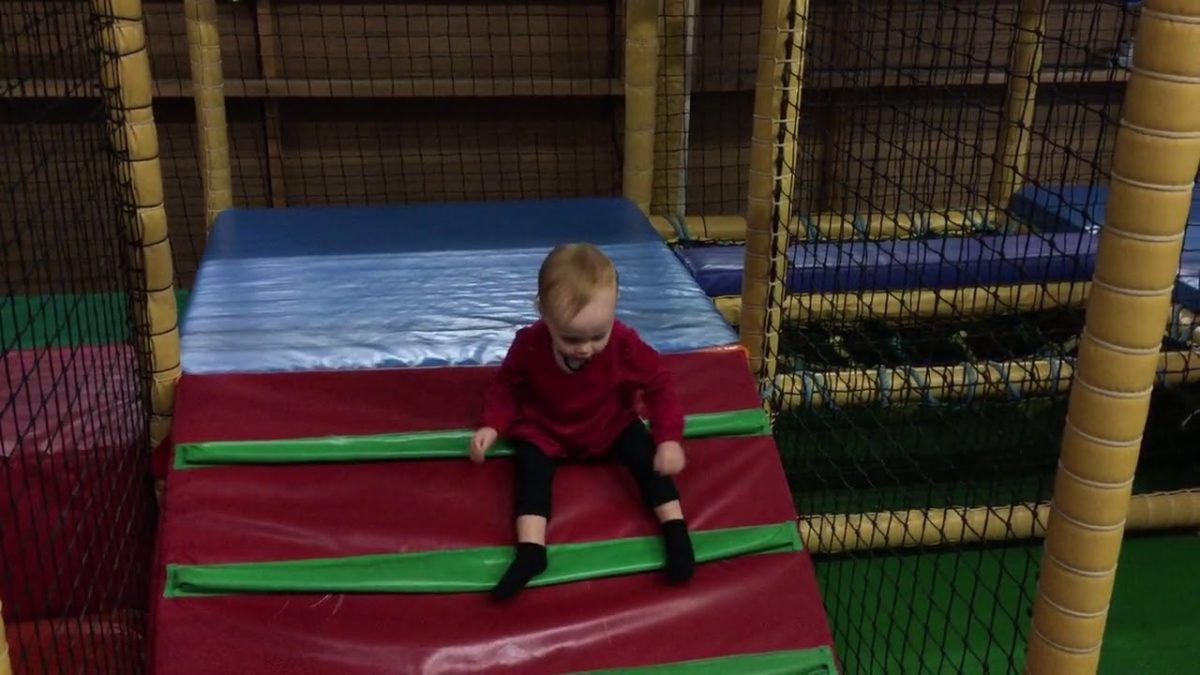 Playing in a soft-play area [VIDEO]