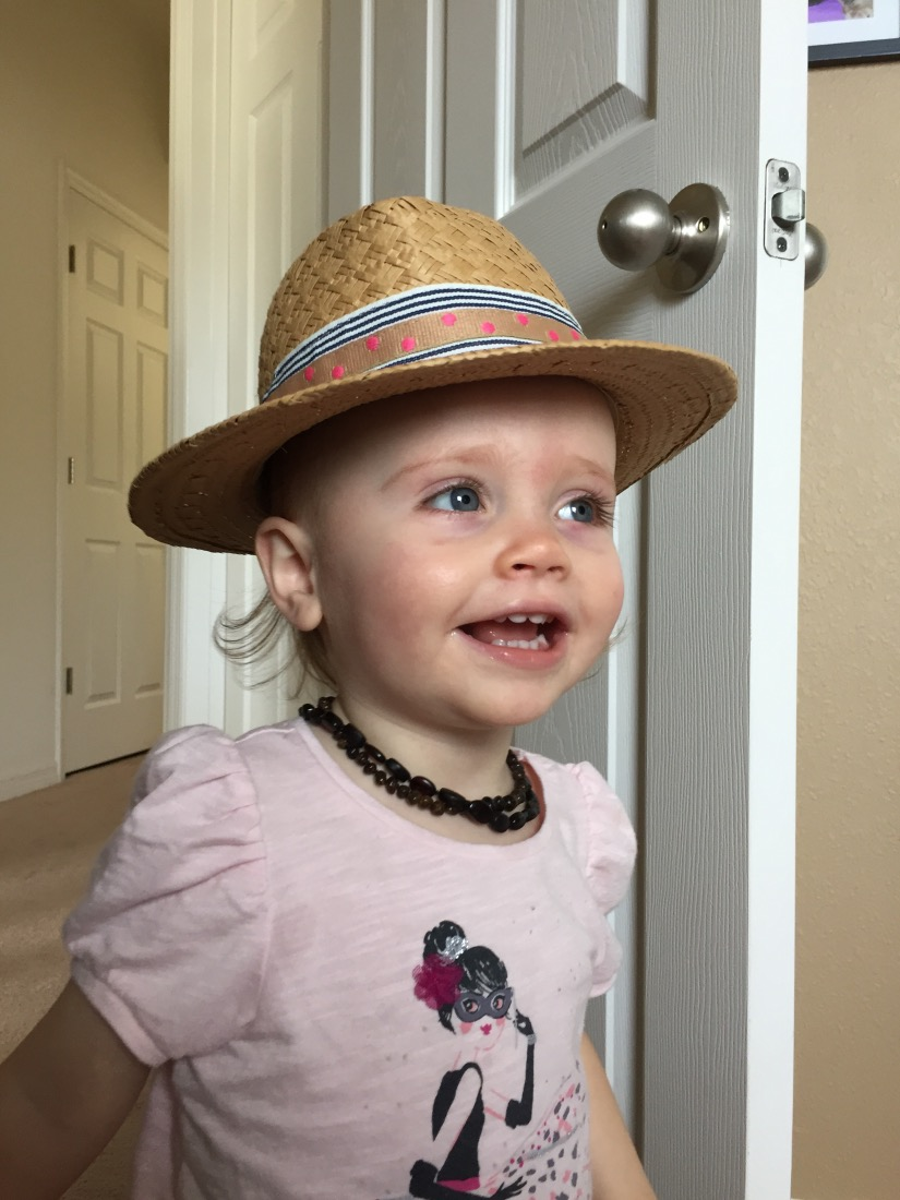 Ellie rocking a panama hat