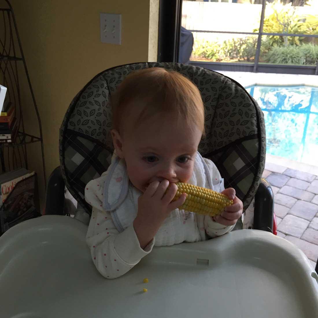 Devouring corn