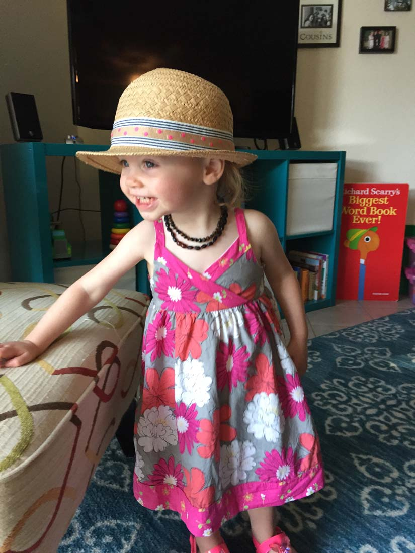 Ellie's sun dress and hat