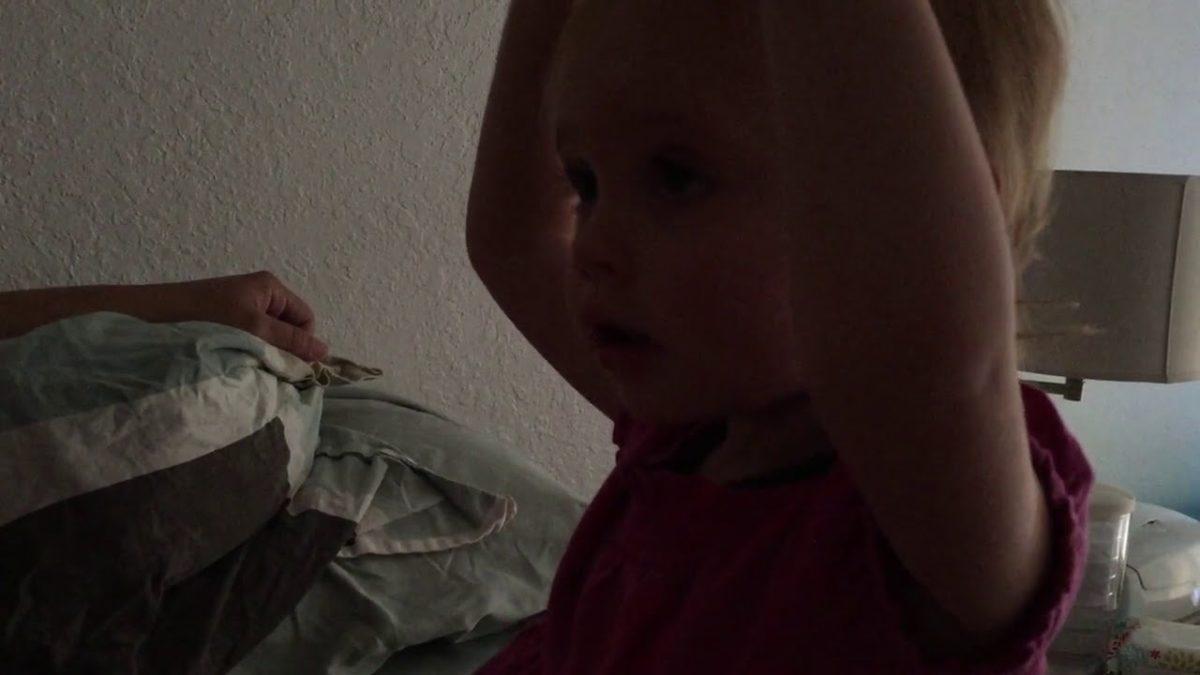 Ellie giving Jack cuddles and a handshake [VIDEO]