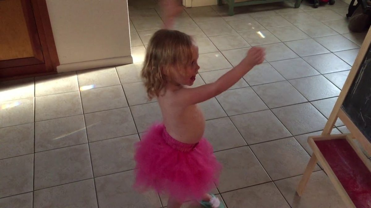 Dancing in her tutu [VIDEO]
