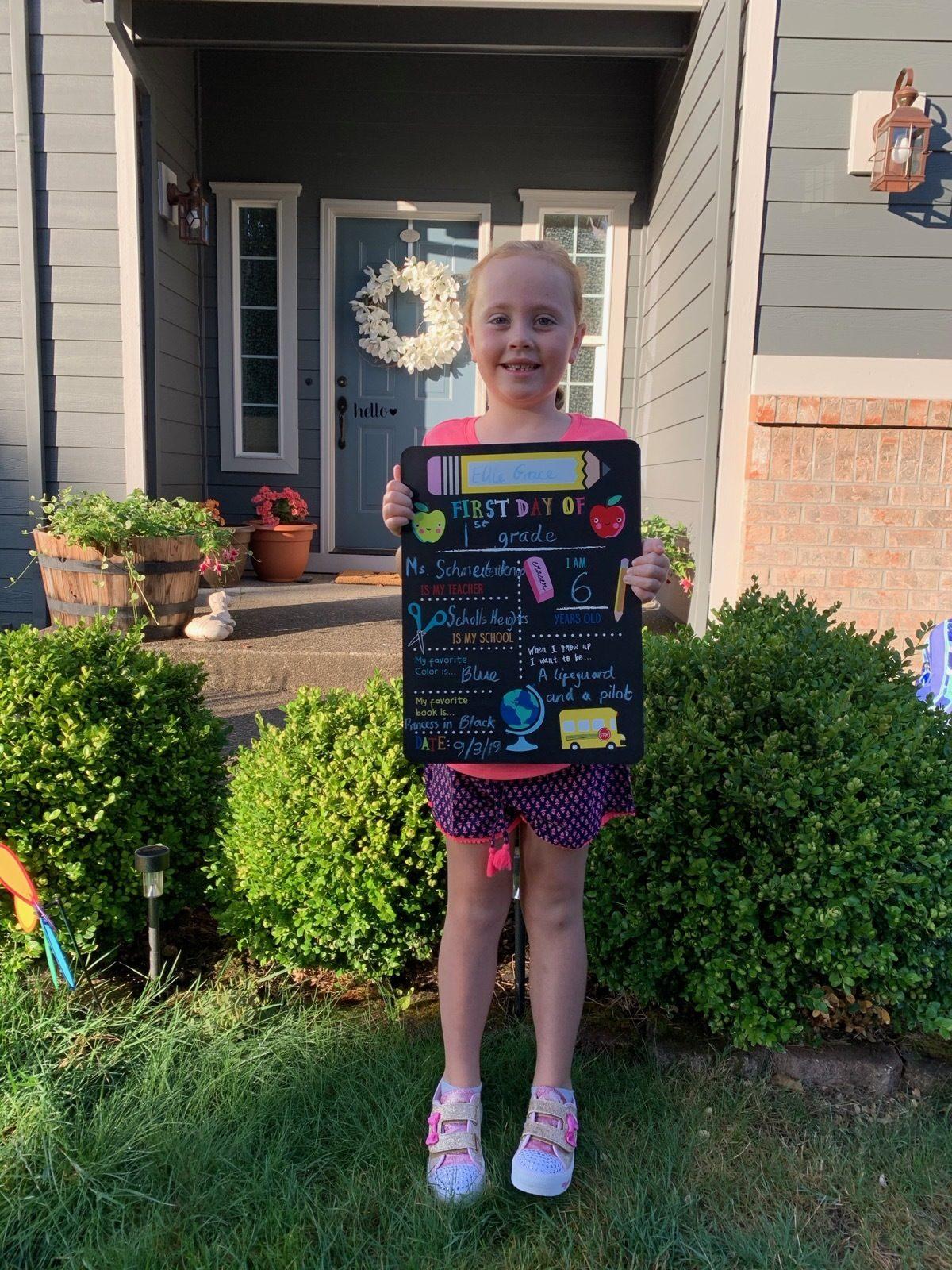 Ellie starts 1st grade