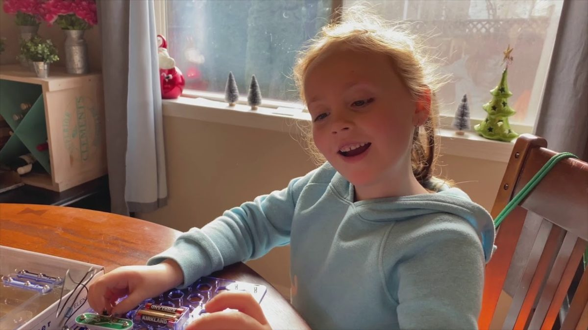Ellie has been busy with science kits [VIDEO]